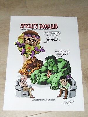 Sprout's Bookclub Artprint (Signed by Aneurin Wright)