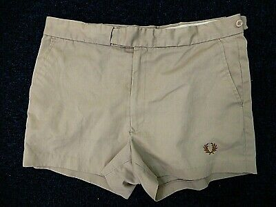 """Vintage Fred Perry - Shorts - Size 36"""" - Beige - Fitted - 70's Tailored"""