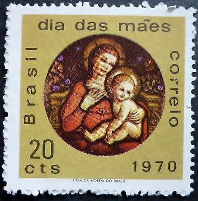 1970 Mother Day MNH Stamp from Brazil