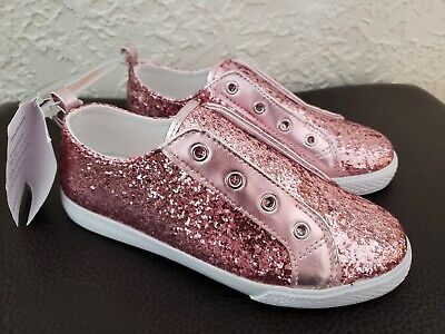 fee32f3689e8 GYMBOREE Girl's sz 2 PINK Glitter Sparkle Shoes Sneakers Tennis Shoes Slip  ons