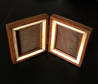 ANTIQUE FOLDING WOOD PICTURE DISPLAY FRAME 19th CENTURY