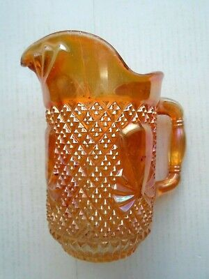 Vintage Carnival Glass Jug In Marigold Free P&P To The Uk