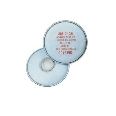 3M P3 Filter Pairs Bayonet Fitting System White Ref 2138 [Pack 10]