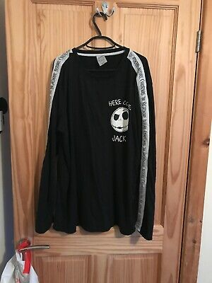 Disney Official Jack Skellington Nightmare Before Christmas Mens L Top