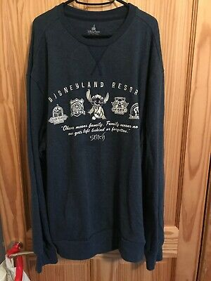 Disney Parks Official Disneyland Stitch Blue Sweater XL Lands California