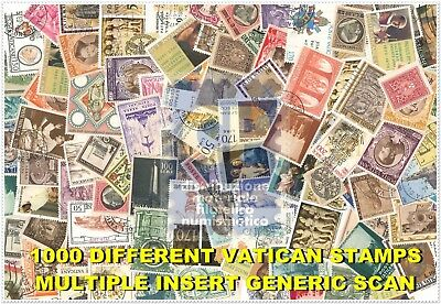 Lot 1000 Used Different Vatican Stamps