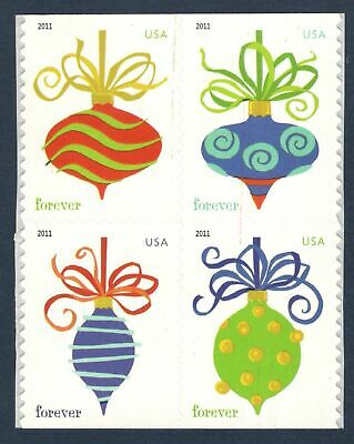 4575-78 Holiday Baubles Forever Block Of 4 Mint/nh Free Shipping