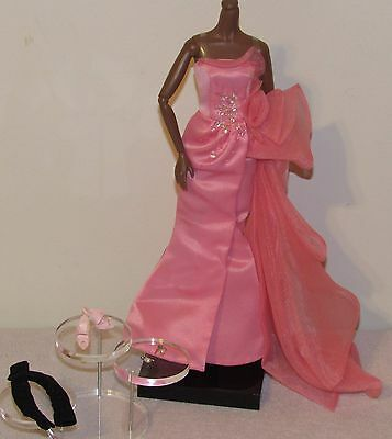 Glam Gown Silkstone Barbie Complete Fashion Outfit Pink Dress Ensemble No Doll