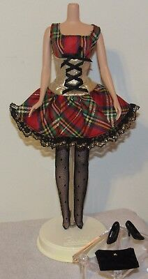 1995 Fashion Avenue #14366 Loose Barbie Outfit No Doll Plaid Holiday Party Dress
