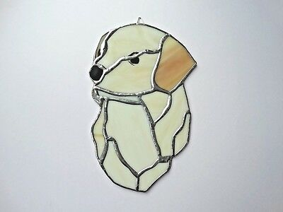 Stained Glass Labrador Head