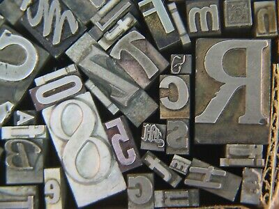 Mixed Metal Type  - Letterpress from the 50's era #22