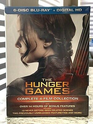 The Hunger Games Complete Collection Box Set 6-Disc Blu-ray + Digital HD - NEW