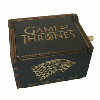 Carved Wooden Music Box Game Of Thrones Theme Song Hand Crank Winter Is Coming