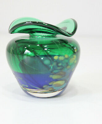 Vintage Mid Century Modern Hand Blown Murano Italain Art Glass Bottle Bud Vase