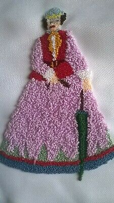 Completed Tapestry. Crinoline Lady With Parasol. Newly Completed.