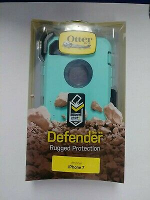 New Otterbox Defender Series Case for the Iphone 7 8 4.7 W/ Holster Tempest Blue