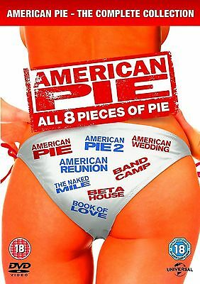 The Complete American Pie Collection Dvd Box Set 1-8 Reunion Wedding 1 2 3 4