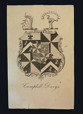 [mid-19th century] Armorial bookplate of Campbell Davys