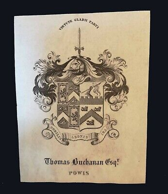 [early 19th century] Armorial bookplate of Thomas Buchanan of Powis