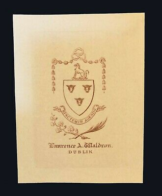 [late 19th century] Armorial bookplate of Laurence Ambrose Waldron