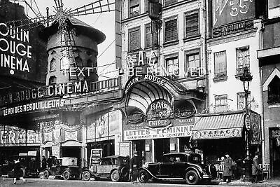 MOULIN ROUGE CINEMA PARIS STREET OLD CARS EARLY 1900s  786694E