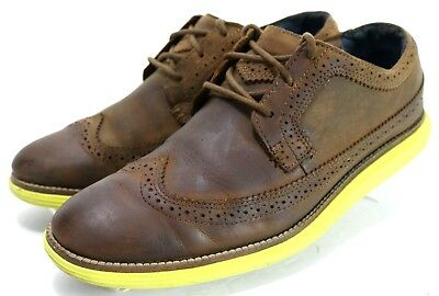 3783e31ac1d46 Mark Nason Skechers $94 Mens Wingtip Oxfords Shoes Size 8.5 Leather Brown  Yellow