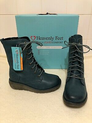 be1df89a35a7 LADIES HEAVENLY FEET Walker Zip   Lace Ankle Boots - £40.00 ...