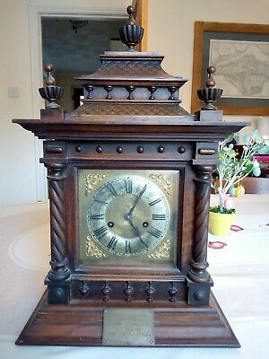 Antique mantle clock Large  made by H.A.C.14 day Strike early 1900's restoration