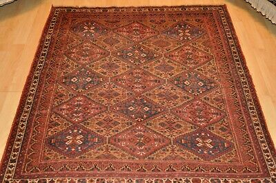 4x5 ft. Antique Persian late19th century Handmade tribal Persian rug #PM75