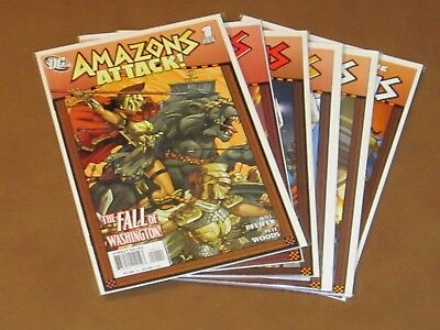 Amazons Attack #1 - 6 Vf Complete Series Wonder Woman Justice League Supergirl