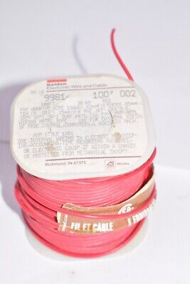 NEW Belden Electronic Wire and Cable Type: 9981, 100' 002, RED