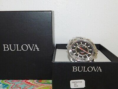 MENS BULOVA 96B156 Precisionist Champlain Black Carbon Fiber Men's Watch $685