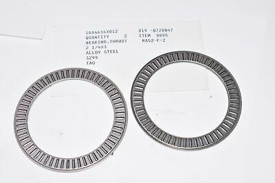 Lot of 2 NEW 10A4636X012 Thrust Bearings - Alloy Steel , 2-1/4 x 3