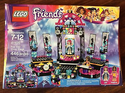 LEGO 41105 Friends POP STAR SHOW STAGE NEW MISB IDEA NATALE