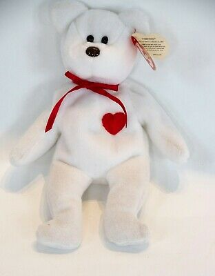 e3a324dbaca RARE 1993 Valentino The Bear Ty Beanie Baby with Brown Nose   Multiple  Errors