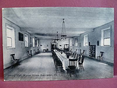 Old Postcard Dining Hall Moose Home, Lancaster, PA