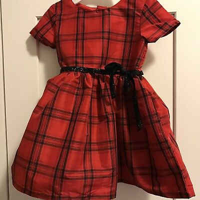 364931554 Carter's Infant Girl 6 MONTH Red Plaid Holiday Dress Short Sleeve Sparkle  Bow
