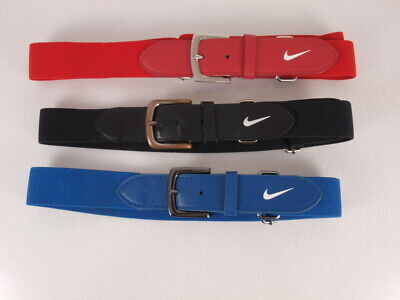 719392b9f4e6e1 Nike Baseball Belts Lot of 3 Youth Blue Black Red Adjustable Sports Uniform