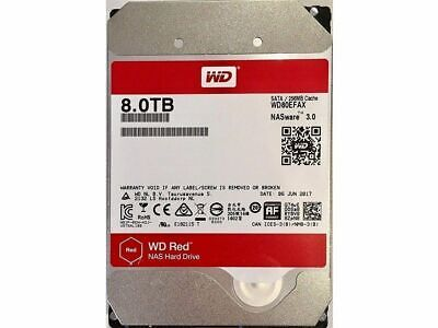 "Western Digital WD 8TB Red NAS HDD 3.5"" SATA Internal Hard Drive 5400RPM 256MB"