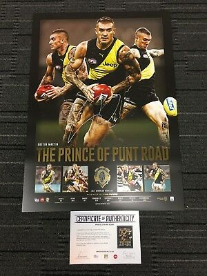 Dustin Martin Richmond Tigers Hand Signed 2017 Brownlow Prince Of Punt Rd Print