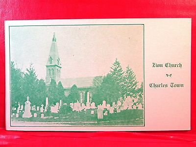 Postcard WV Charles Town Zion Church