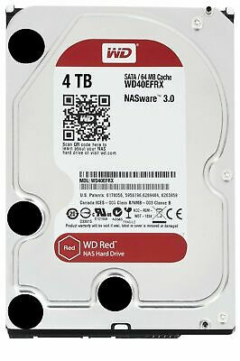 "Western Digital WD Red 4TB NAS HDD 3.5"" SATA Internal Hard Drive 5400RPM 64MB"