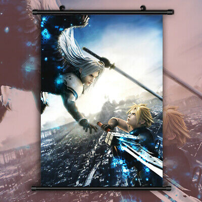 Final Fantasy VII HD Print Anime Wall Poster Scroll Room Decor