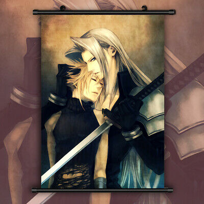 Final Fantasy VII Zack Fair HD Print Anime Wall Poster Scroll Room Decor