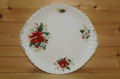 Royal Albert Poinsettia Cake Plate or Serving Plate, 10 3/8""