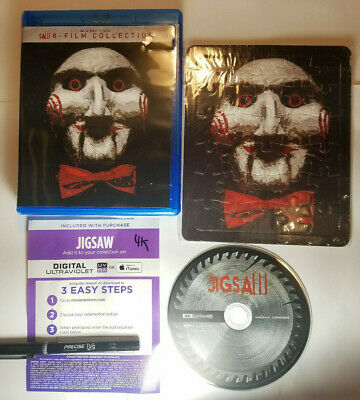 SAW Complete Unrated 8-Movie Collection+Puzzle & JIGSAW 4K+Digital Copy 10 Disc