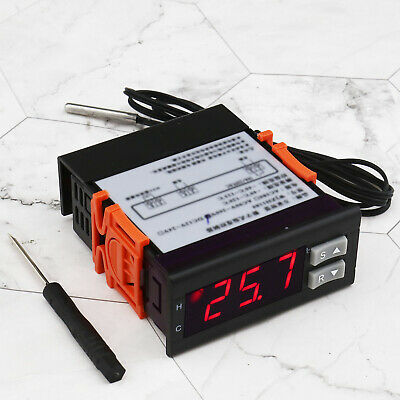 1x/2x 220V 10A WJZH-1180 Digital LCD Temperature Controller Thermostat
