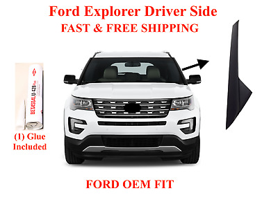 11-19 Ford Explorer Windshield Molding Outer Trim Pillar Driver Side With Glue