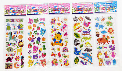 "Sticker Lot Wholesale 3D Cartoon Small Pvc Stickers Lot"" Animation""Children Gift"
