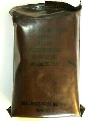 ~Nos! Us Military Vintage Brown Bag Mre Beef Stew Menu No 7 So-Pak-Co Acces Pk A